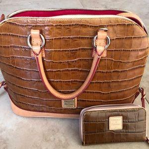 DOONEY & BOURKE - croco satchel & mini wallet